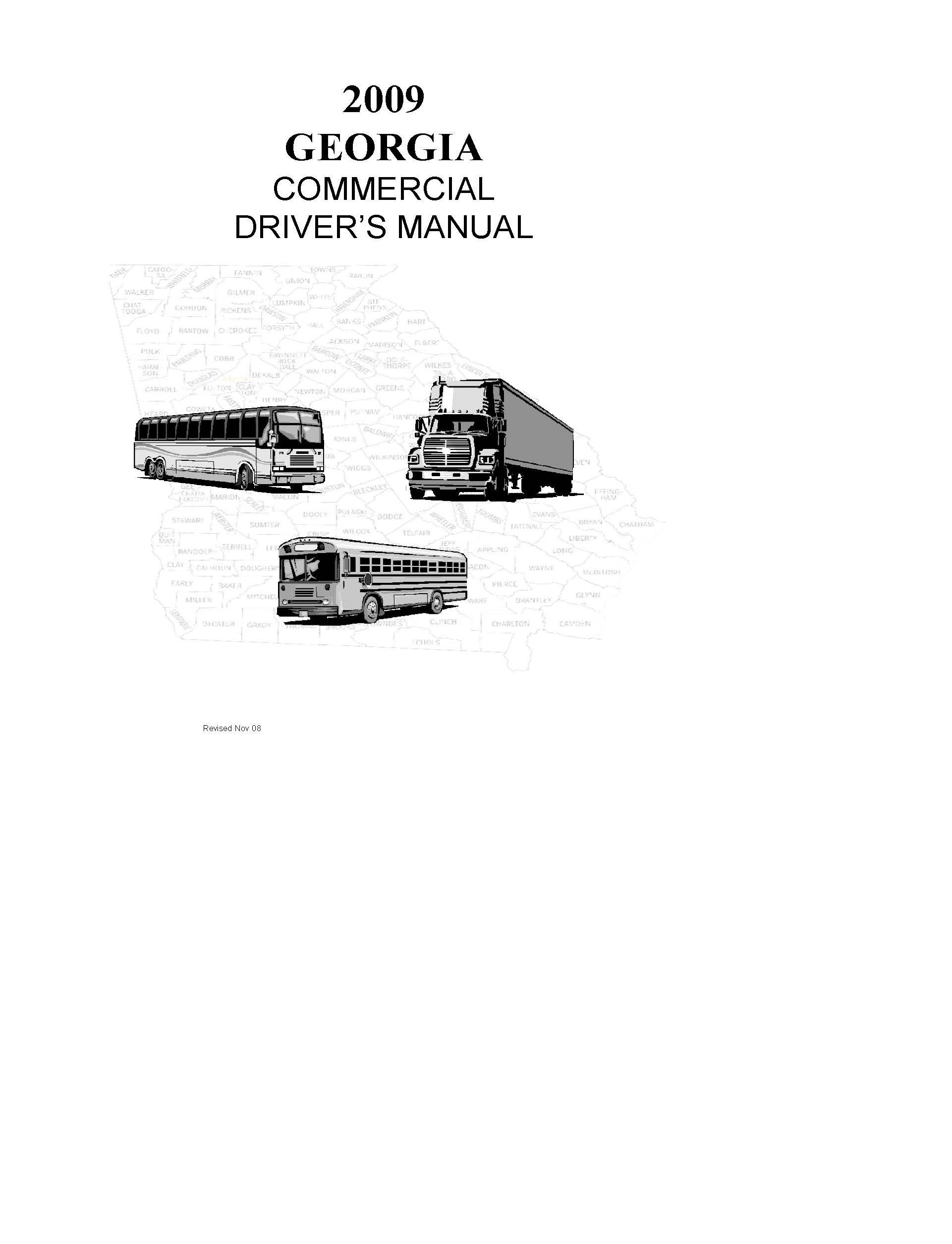 Georgia Commercial Drivers License Manual 2009
