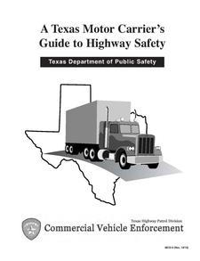 texas motor carrier 39 s guide to highway safety the