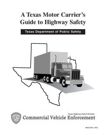 Texas Motor Carrier's Guide to Highway Safety