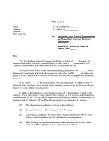 Trucking Collision Spoliation Letter form in Word format